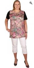 Handberg - T-shirt med korte ærmer og smart detalje ved halsen