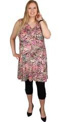 Handberg - Tunika klänning utan ärmar och i super smart tryck