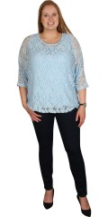 Cassiopeia - It well-known great stretch lace blouse from cassiopeia with 3/4 sleeves