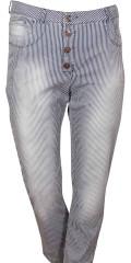 Cassiopeia - Sippo 7/8 Hosen mit Milch Jungen Streifen, Regulierbar Elastik in die Taille