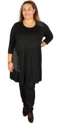 Gozzip - Tunika klänning med 3/4 ärmar och volanger