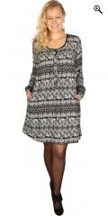 Gozzip - Tunica kjole med lange ærmer