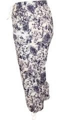 DNY - Halblange Hose mit Elastik und binden in die Taille und binden in den Beinen sowie 4 Taschen