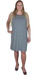 Cassiopeia - Läcker sommar t-shirt klänning med vidd band