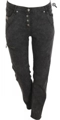 Zhenzi - Stomp pants denim with belt straps and adjustable rubber band in the waist