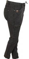Zhenzi - Stomp pants denim med bæltestropper og regulerbar elastik i taljen