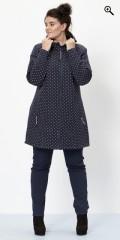 Zhenzi - Marine blue soft shell jacket with dots