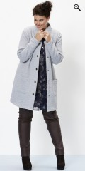Zhenzi - Gennemknappet cardigan med lange ærmer