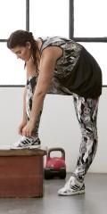 Zhenzi - Pants/leggings fitness i super strechy materiale med elastik og snøre i taljen