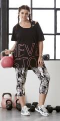 Zhenzi - T-shirt i fitness serien, 100% bomuld
