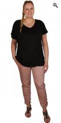 Sandgaard (Studio/Gozzip) - T-shirt med kort vingeærme og v-hals