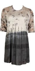 Cassiopeia - Sava tunika kjole med blonde i ærmerne