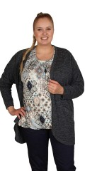Cassiopeia - Luni open cardigan with 2 pockets