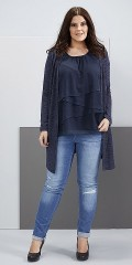Zhenzi - Long stylish soft all-buttoned cardigan