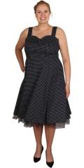 Zizzi - 50 er kjolen med brede stropper og rigtig fine detaljer