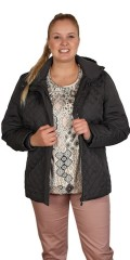 Cassiopeia - Grey blaire jacket with detachable cap
