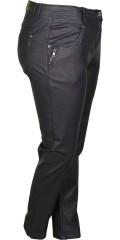 Zhenzi - Blau beschichtet Stretch Jeans (Modell stomp legging fit) mit Elastik in die Taille