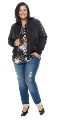 Cassiopeia - Jenny bomber kort jakke, lukkes med glidelås