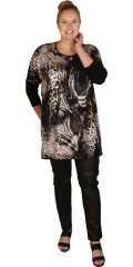 DNY (Marc Lauge) - Oversize tunica med print