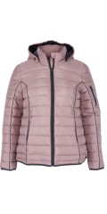 Zizzi - Quilted jacket with detachable cap and adjustable string in the bottom