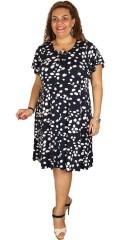 Zhenzi - Fersk kjole med lisse i halsen og med riktig god vidde nederst