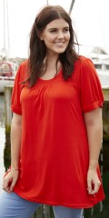Zhenzi - T-shirt with smock stay in a-shaped