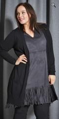 Adia - Kjole/tunika med frynser nederst og hard sydd underkjole