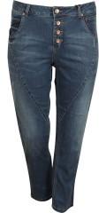 Cassiopeia - Jeans 7/8 med 5 lommer og regulerbar elastik i taljen