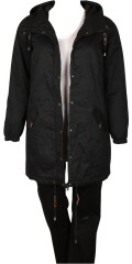 Zizzi - Long transition jacket with cap and 2 pockets also 1 inside pocket