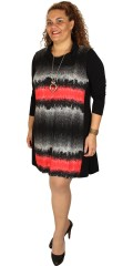 Handberg - Tunica kjole med lange ærmer i flot mønster både foran og bagpå
