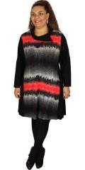 Handberg - Tunika klänning med långa ärmar i vacker mönster båda framsida och på baksidan