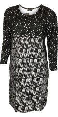 Handberg - Black/white dress with 3/4 sleeves