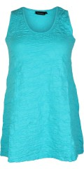 Handberg - Handberg top/tunica without sleeves and with round neck in a-shaped and embossed pattern