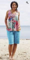 Handberg - Shorts mit elastik in ganze die taille und präge muster
