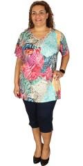 Handberg - T-shirt med v-hals, i riktig flotte farger