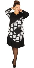 Handberg - Warm stretchable dress with long sleeves