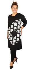 Handberg - Warme dehnbar Kleid mit lange Ärmeln