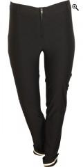 One More (Handberg) - Super stretch lange bukser med op smøg og bæltestropper, lukkes med lynlås