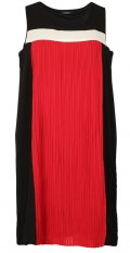 OneMore - Smart pleat dress without sleeves with round neck