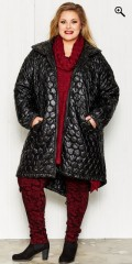 Gozzip - Exclusive coat in shiny material with big collar