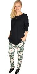 Gozzip - Super bløde bukser med lynlås, strech og regulerbar elastik