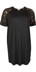 Gozzip - Dress/tunica with lace diamonds in the sleeves