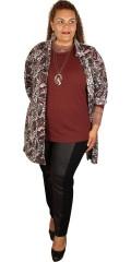 Handberg - T-shirt flat 4x4 ribbe, lange ermer og rund hals