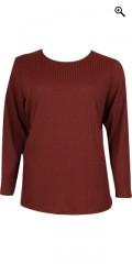 Handberg - T-shirt flad 4x4 rib, lange ærmer og rund hals