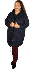 Zizzi - Long jacket with cap and 2 pockets also 1 inside pocket