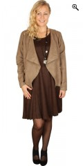 Juna Rose (Bestseller) - Open blazer jacket in suede look a like with lining and decorate pockets