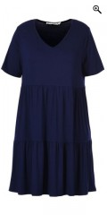 Studio - Lekker kjole/tunika med ruffle skjørt