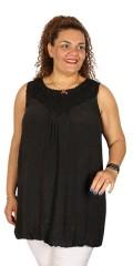 DNY (Marc Lauge) - Så er den tilbage: becca tunica/kjole med flot hæklet hals og hæklet bærestykke