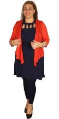 DNY (Marc Lauge) - Lucca tunika klänning utan ärmar med smart hålar vid halsen