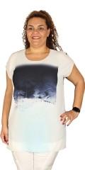 DNY (Marc Lauge) - Oversize tunica med print og ensfarvet bagstykke